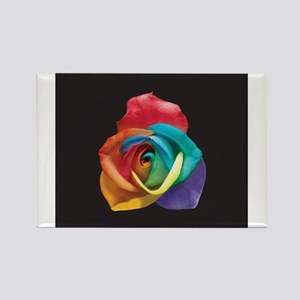Rainbow Rose Rectangle Magnet