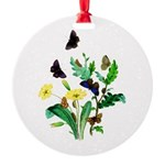 Butterflies of Summer Round Ornament