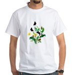Butterflies of Summer White T-Shirt