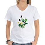 Butterflies of Summer Women's V-Neck T-Shirt