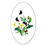 Butterflies of Summer Sticker (Oval 10 pk)