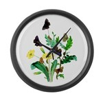 Butterflies of Summer Large Wall Clock