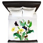 Butterflies of Summer King Duvet
