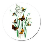 Butterflies of Summer Round Car Magnet