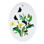 Butterflies of Summer Ornament (Oval)