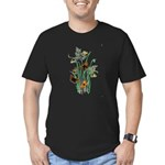 Butterflies of Summer Men's Fitted T-Shirt (dark)