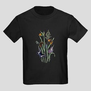 Butterflies of Summer Kids Dark T-Shirt