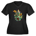 Butterflies of Summer Women's Plus Size V-Neck Dar