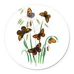 Butterflies of Summer Round Car Magnet