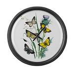 Butterflies of Summer Large Wall Clock