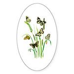 Butterflies of Summer Sticker (Oval 50 pk)