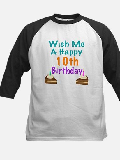 Wish me a happy 10th Birthday Kids Baseball Jersey
