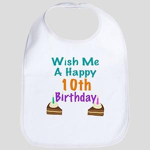 Wish me a happy 10th Birthday Bib
