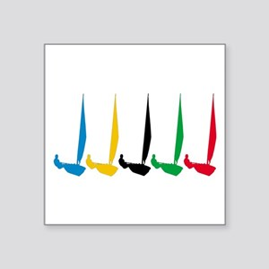 "Sailing Regatta Square Sticker 3"" x 3"""