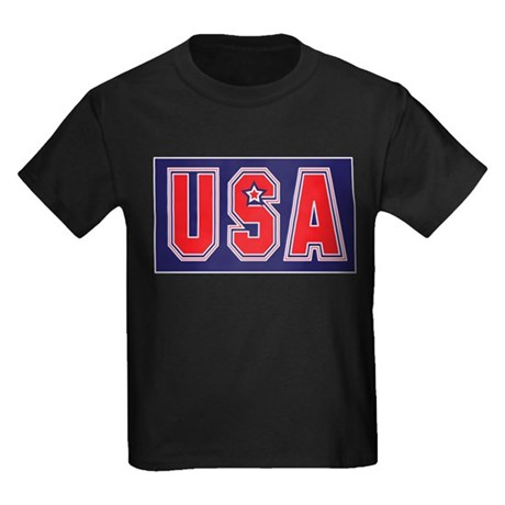 USA w STAR Kids Dark T-Shirt