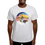XMusic2-BlueM Collie Light T-Shirt