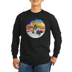 XMusic2-BlueM Collie Long Sleeve Dark T-Shirt