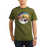 XMusic2-BlueM Collie Organic Men's T-Shirt (dark)