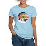 XMusic2-BlueM Collie Women's Light T-Shirt