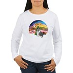 XMusic2-BlueM Collie Women's Long Sleeve T-Shirt