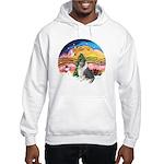 XMusic2-BlueM Collie Hooded Sweatshirt