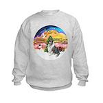 XMusic2-BlueM Collie Kids Sweatshirt