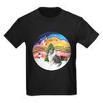 XMusic2-BlueM Collie Kids Dark T-Shirt