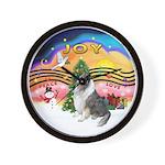 XMusic2-BlueM Collie Wall Clock