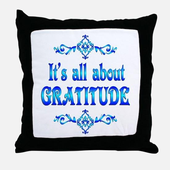 All About Gratitude Throw Pillow