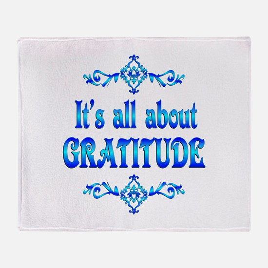 All About Gratitude Throw Blanket