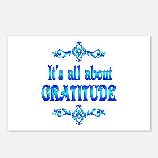 All About Gratitude Postcards (Package of 8)