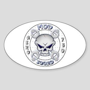 SKULL MOD SQUAD Oval Sticker