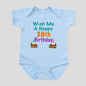 Wish me a happy 28th Birthday Infant Bodysuit