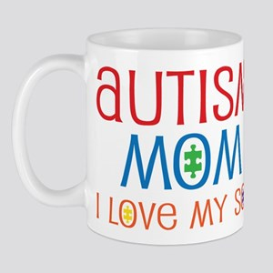 Autism Mom Loves Son Mug