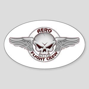 SKULL Flight Crew Oval Sticker