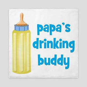 Papas Drinking Buddy Queen Duvet