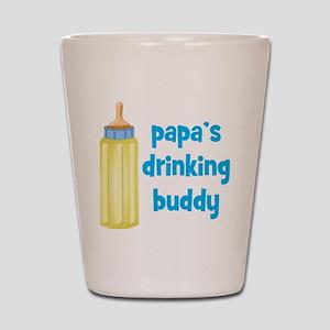 Papas Drinking Buddy Shot Glass