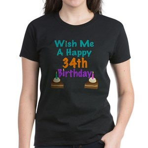 Happy Birthday 34 Womens Clothing