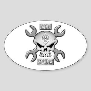 SKULL CHROME MOD SQUAD Oval Sticker