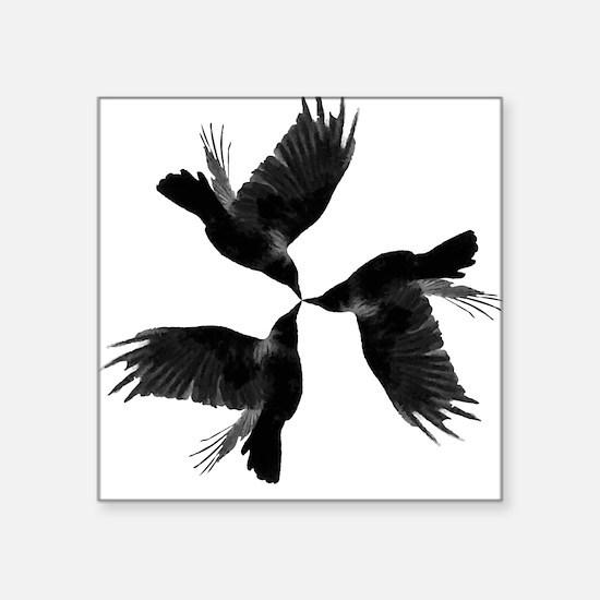 "Crow Tessellation Square Sticker 3"" x 3"""