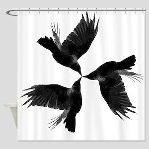 Crow Tessellation Shower Curtain