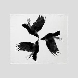 Crow Tessellation Throw Blanket