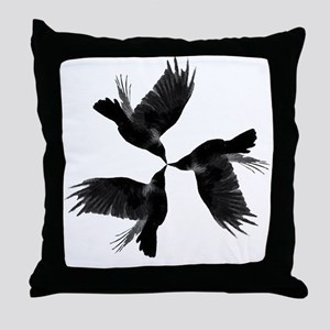 Crow Tessellation Throw Pillow