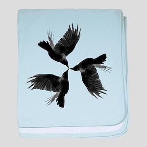 Crow Tessellation baby blanket