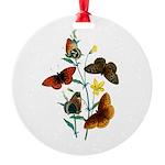Butterflies of Summer Round Ornament