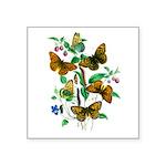 Butterflies of Summer Square Sticker 3