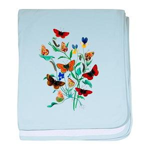 23fda60f8db Butterfly Baby Blankets - CafePress