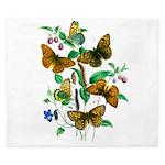 Butterflies of Summer King Duvet