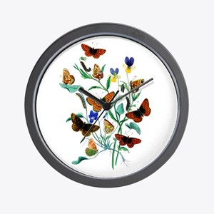 Butterflies of Summer Wall Clock