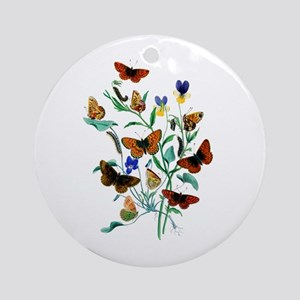 Butterflies of Summer Ornament (Round)